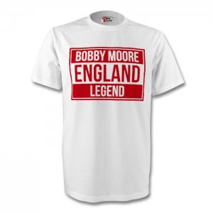 Bobby Moore England Legend Tee (white) - Kids