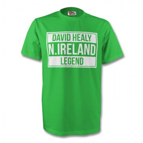 David Healy Northern Ireland Legend Tee (green) - Kids