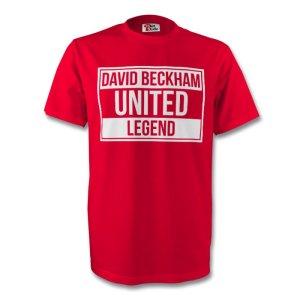 David Beckham Man Utd Legend Tee (red) - Kids