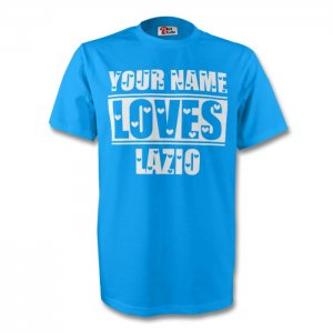 Your Name Loves Lazio T-shirt (sky)