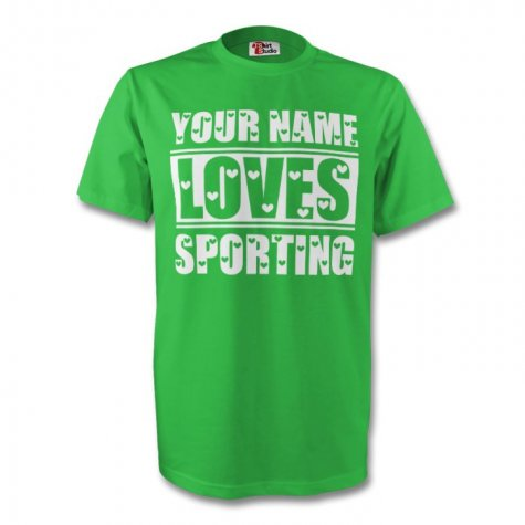 Your Name Loves Sporting T-shirt (green)