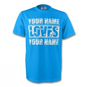 Your Name Loves Your Name T-shirt (sky)