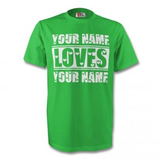 Your Name Loves Your Name T-shirt (green)