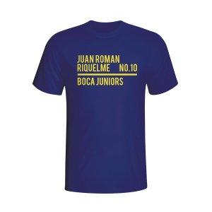 Juan Roman Riquelme Boca Juniors Squad T-shirt (navy) - Kids