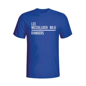 Lee Mcculloch Rangers Squad T-shirt (blue)