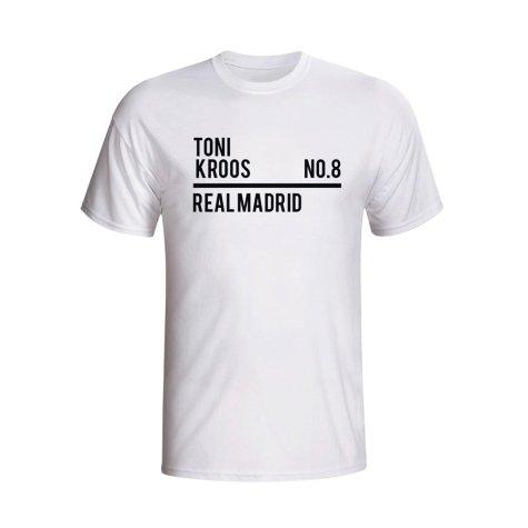 Toni Kroos Real Madrid Squad T-shirt (white)