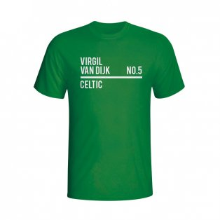 Virgil Van Dijk Celtic Squad T-shirt (green)