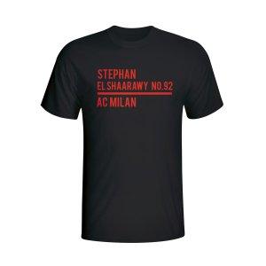 Stephen El Shaarawy Ac Milan Squad T-shirt (black)
