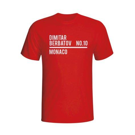 Dimitar Berbatov Monaco Squad T-shirt (red) - Kids
