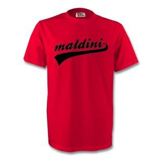 Paolo Maldini Ac Milan Signature Tee (red)