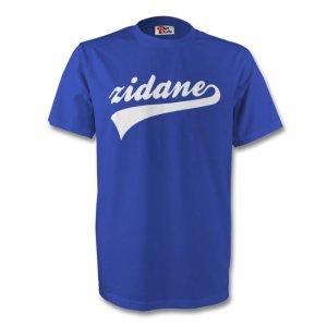 Zinedine Zidane France Signature Tee (blue) - Kids