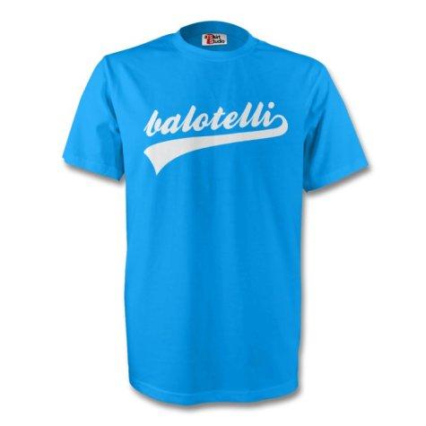 Mario Balotelli Italy Signature Tee (sky Blue) - Kids