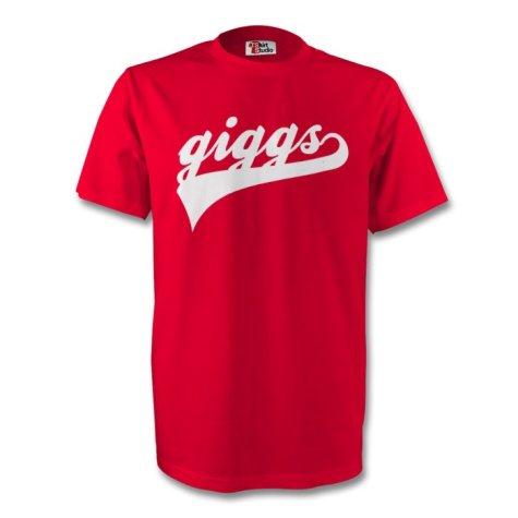 Ryan Giggs Man Utd Signature Tee (red) - Kids