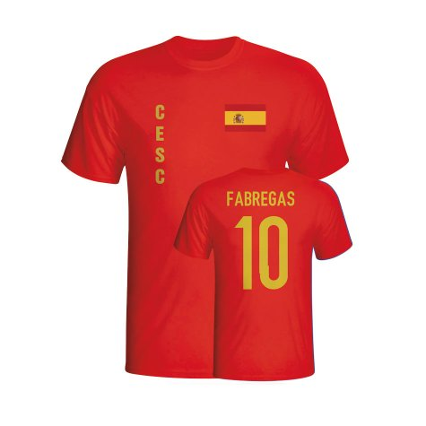 Cesc Fabregas Spain Flag T-shirt (red)
