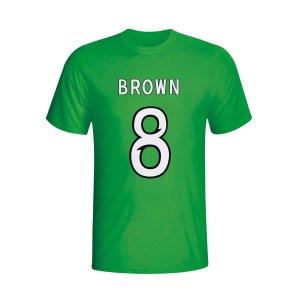 Scott Brown Celtic Hero T-shirt (green)