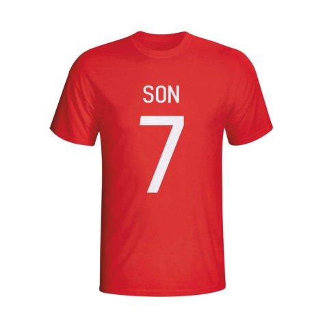 Son Heung-min South Korea Hero T-shirt (red)