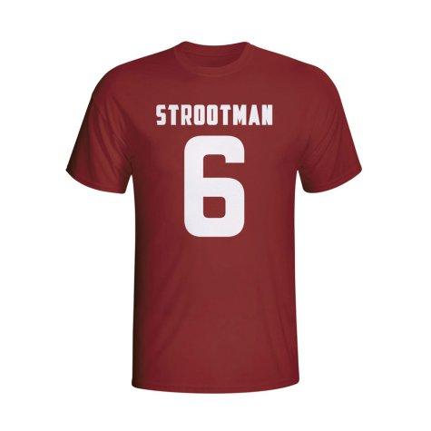 Kevin Strootman Roma Hero T-shirt (maroon)