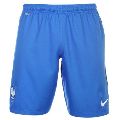 2016-2017 France Nike Home Shorts (Blue)