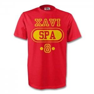 Xavi Spain Spa T-shirt (red)