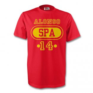 Xabi Alonso Spain Spa T-shirt (red)