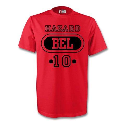 Eden Hazard Belgium Bel T-shirt (red) - Kids
