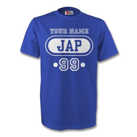 Japan Jap T-shirt (blue) + Your Name (kids)