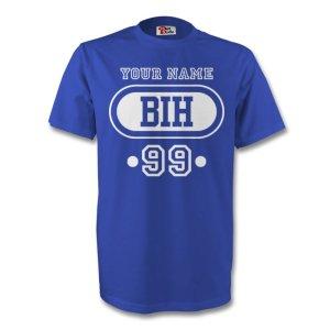 Bosnia Bih T-shirt (blue) + Your Name