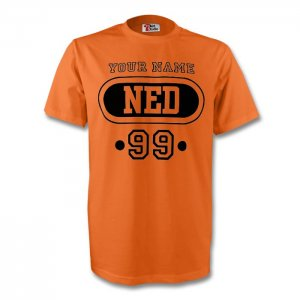 Holland Ned T-shirt (orange) + Your Name