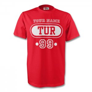 Turkey Tur T-shirt (red) + Your Name (kids)