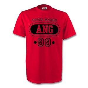 Angola Hun T-shirt (red) + Your Name