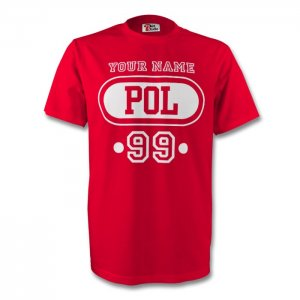 Poland Pol T-shirt (red) + Your Name (kids)