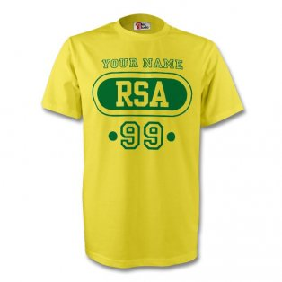 South Africa Rsa T-shirt (yellow) + Your Name