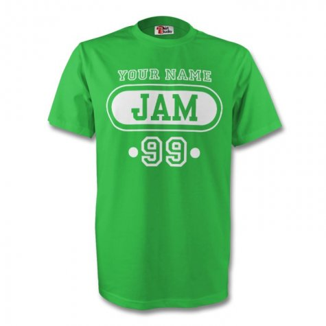 Mexico Mex T-shirt (green) + Your Name (kids)