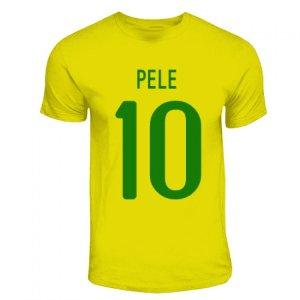 Pele Brazil Hero T-shirt (yellow)