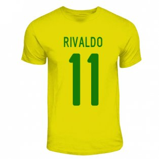 Rivaldo Brazil Hero T-shirt (yellow)