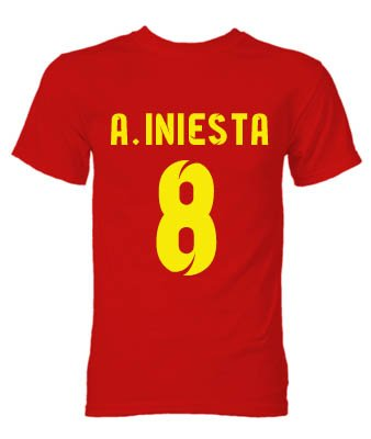 Barcelona Andres Iniesta Hero T-Shirt (Red)