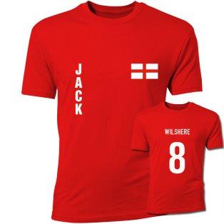 Jack Wilshere England Flag T-Shirt (Red)
