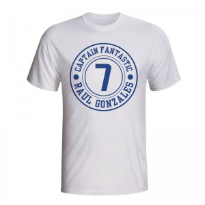 Raul Real Madrid Captain Fantastic T-shirt (white)