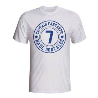 Raul Real Madrid Captain Fantastic T-shirt (white) - Kids