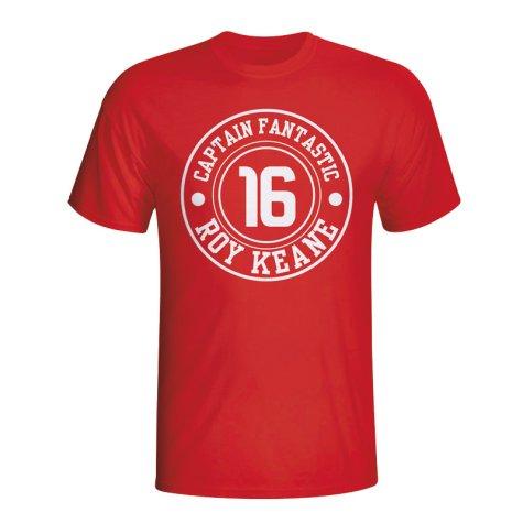 Roy Keane Man Utd Captain Fantastic T-shirt (red)
