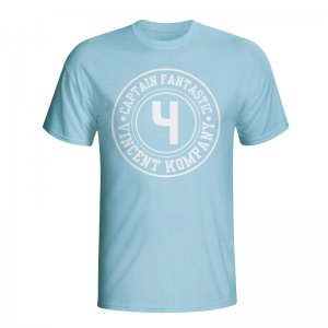 Vincent Kompany Man City Captain Fantastic T-shirt (sky Blue)