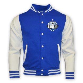 Hertha Berlin College Baseball Jacket (blue)