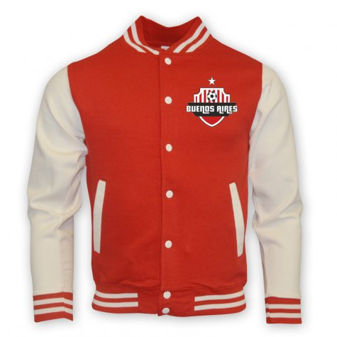 River Plate College Baseball Jacket (red)