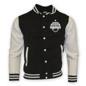 Real Madrid College Baseball Jacket (black) - Kids