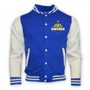 Sweden College Baseball Jacket (blue)