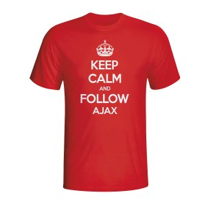 Keep Calm And Follow Ajax T-shirt (red) - Kids