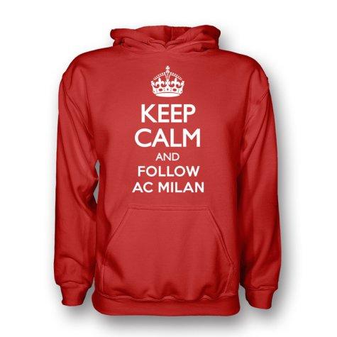 Keep Calm And Follow Ac Milan Hoody (red)