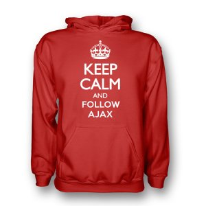 Keep Calm And Follow Ajax Hoody (red) - Kids