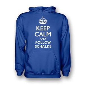 Keep Calm And Follow Schalke Hoody (blue) - Kids