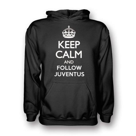Keep Calm And Follow Juventus Hoody (Black) - Kids